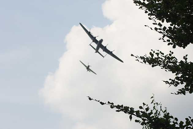 Battle of Britain Memorial Flight over Newbury