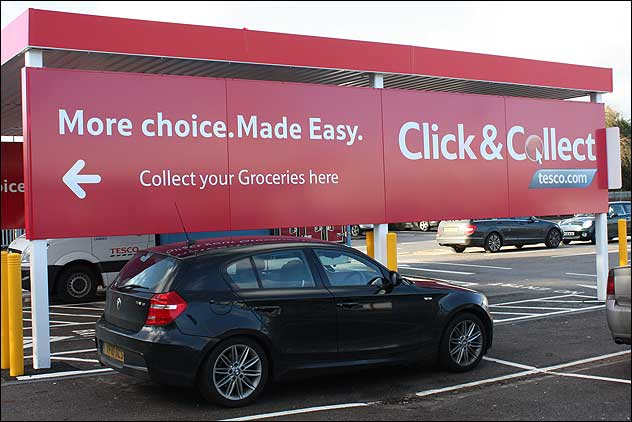 Newbury - Tesco Click & Collect drive-thru Supermarket