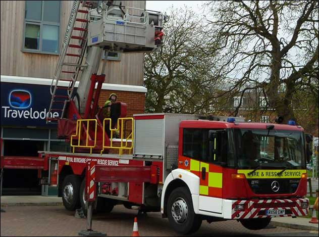 Fire at the Newbury Travelodge